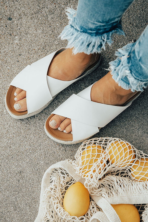 The Becca Espadrille in White