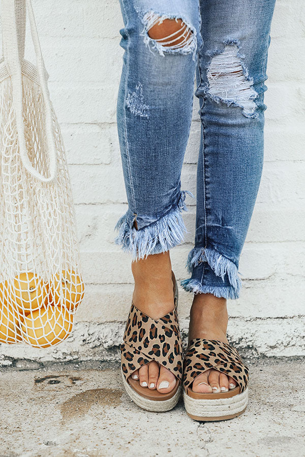 The Becca Espadrille in Leopard