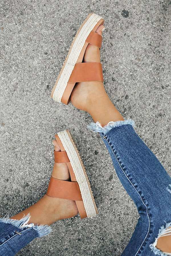 The Lola Espadrille in Brown