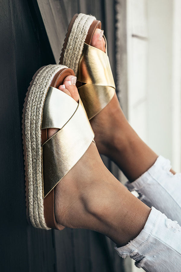 The Becca Espadrille in Gold
