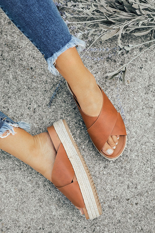 The Becca Espadrille in Brown