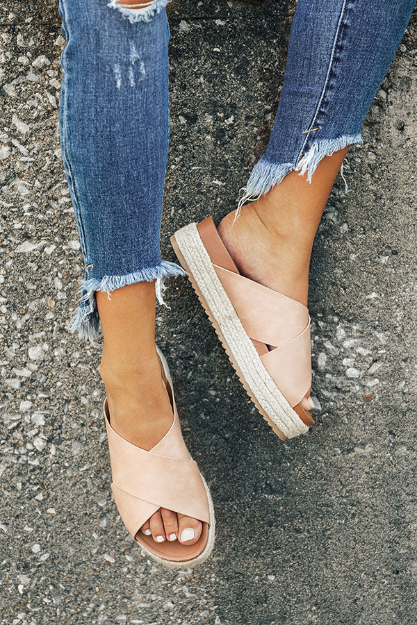The Becca Espadrille in Iced Latte