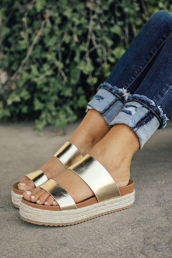 The Lola Espadrille in Gold