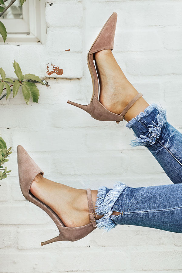 The Layla Heel in Warm Taupe