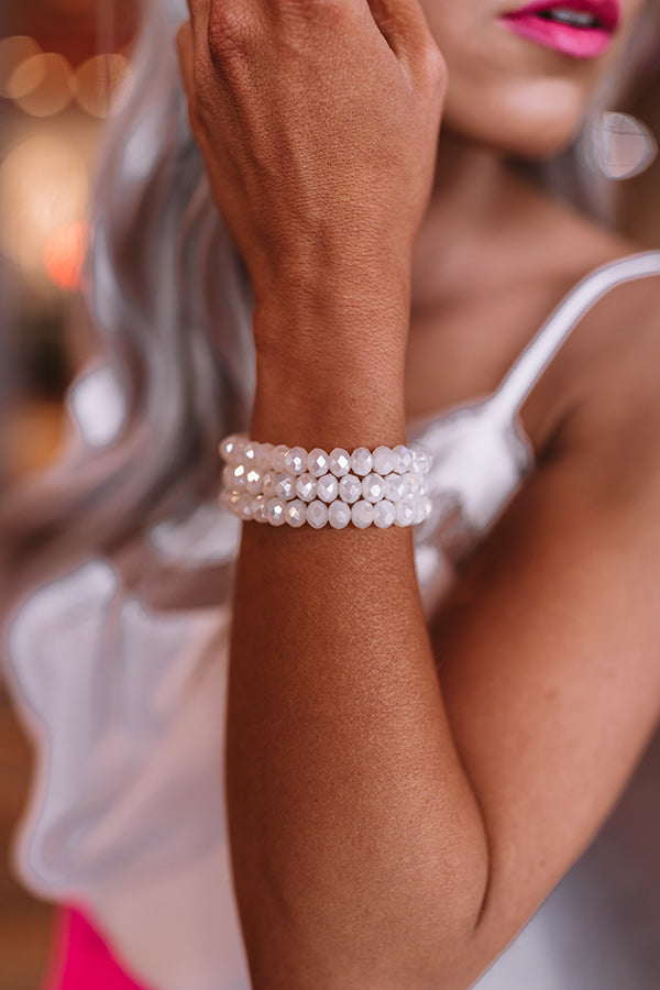 Champagne Shores Bracelet In White