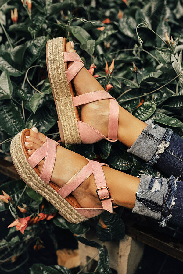 The Eliza Espadrille in Pink