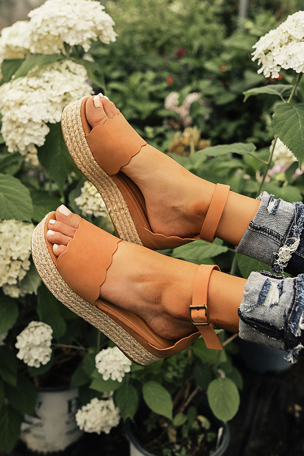 The Eva Espadrille in Tan