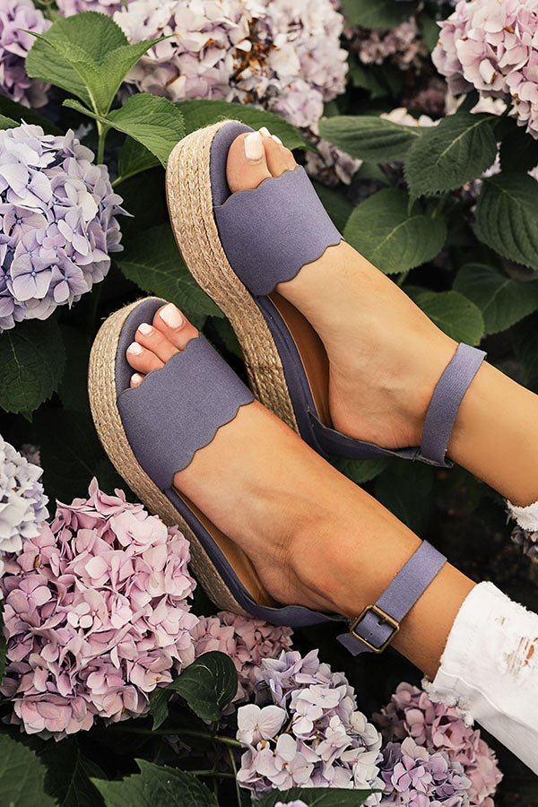 The Eva Espadrille in Deep Periwinkle