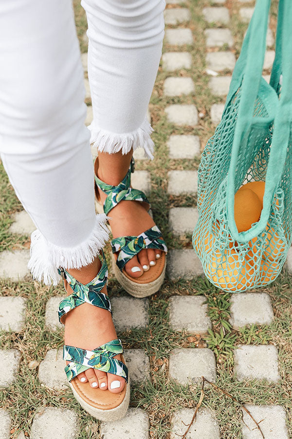 The Eliza Espadrille in Tropical