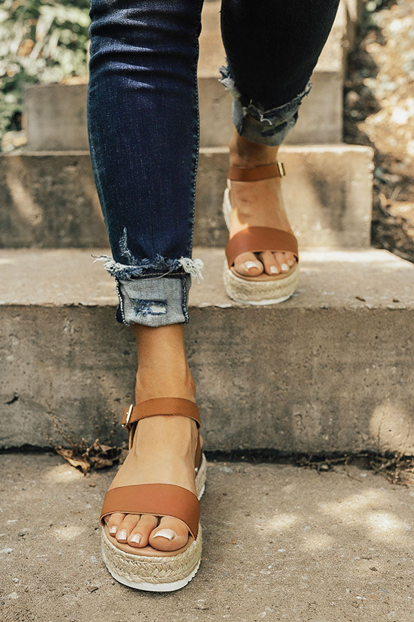The Kaylee Espadrille in Brown