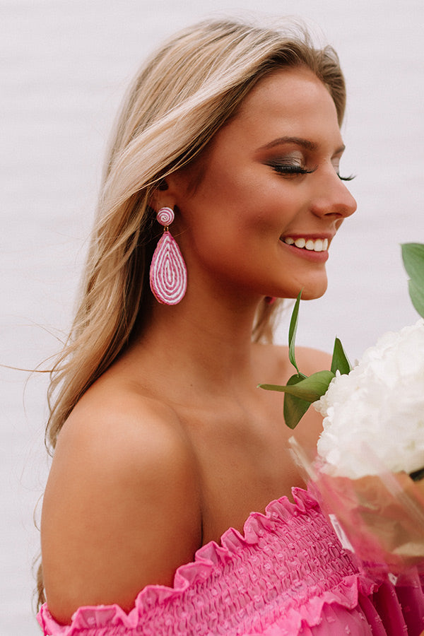 Santorini Swirl Earrings In Blush
