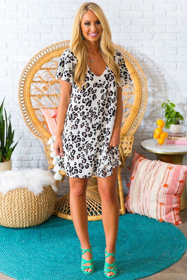 4ee7f4b614df Stunningly Chic Shift Dress in Leopard • Impressions Online Boutique