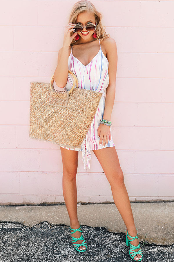 Weekend Retreat Striped Romper
