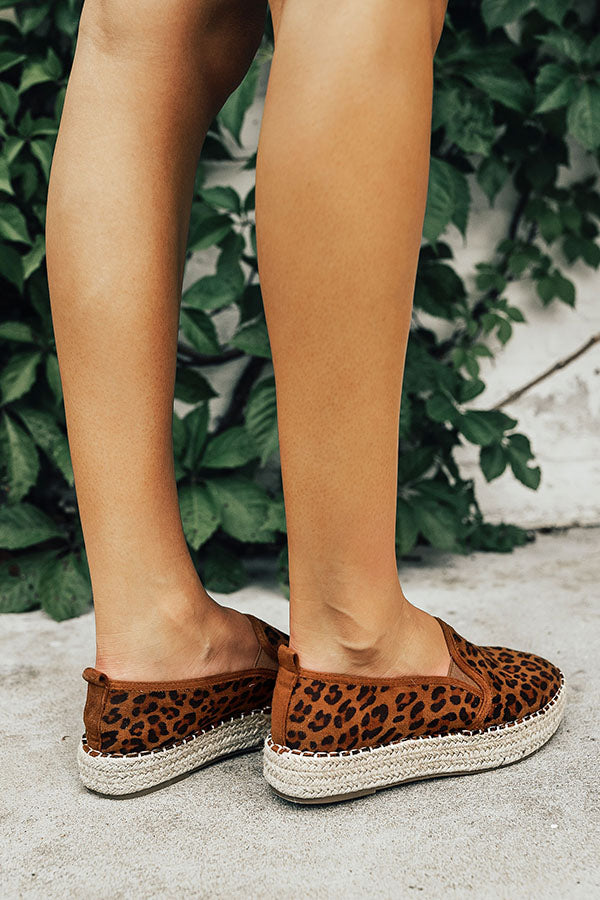 The Presley Espadrille in Leopard