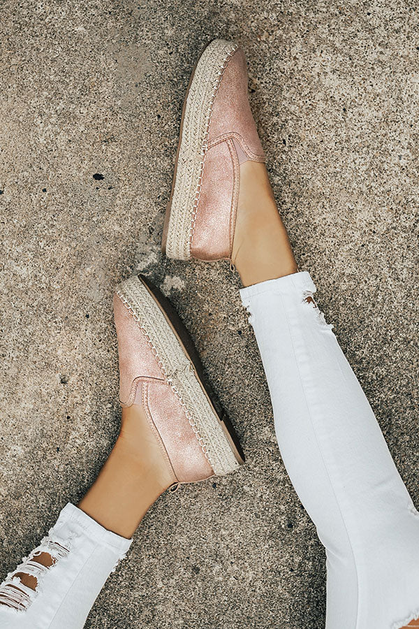 The Presley Espadrille in Blush