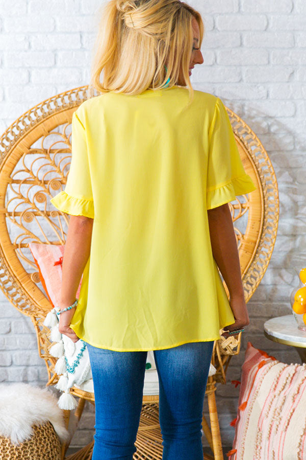 Babydoll Breeze Shift Top In Yellow