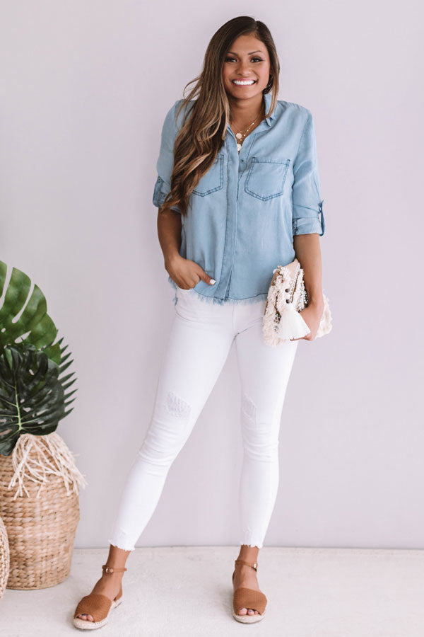The Dakota Chambray Top