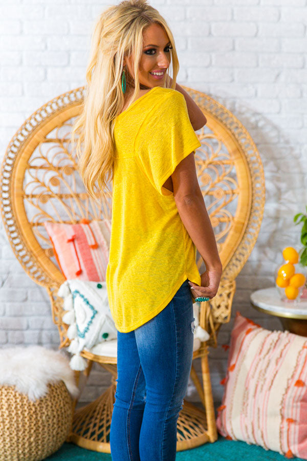 Hustle And Glam Shift Tee In Yellow