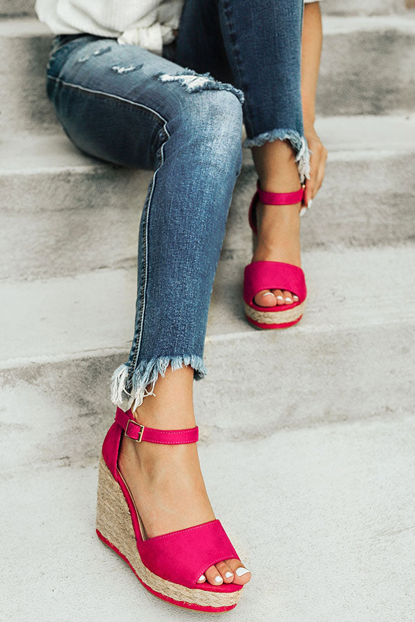 Miami Beach Wedge in Hot Pink