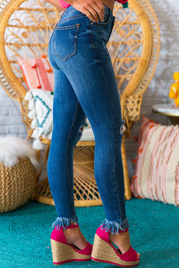 The Jessica High Waist Distressed Ankle Skinny