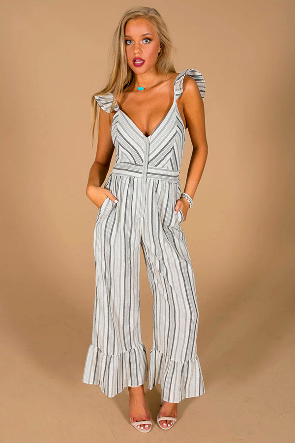 Striped Happiness Jumpsuit