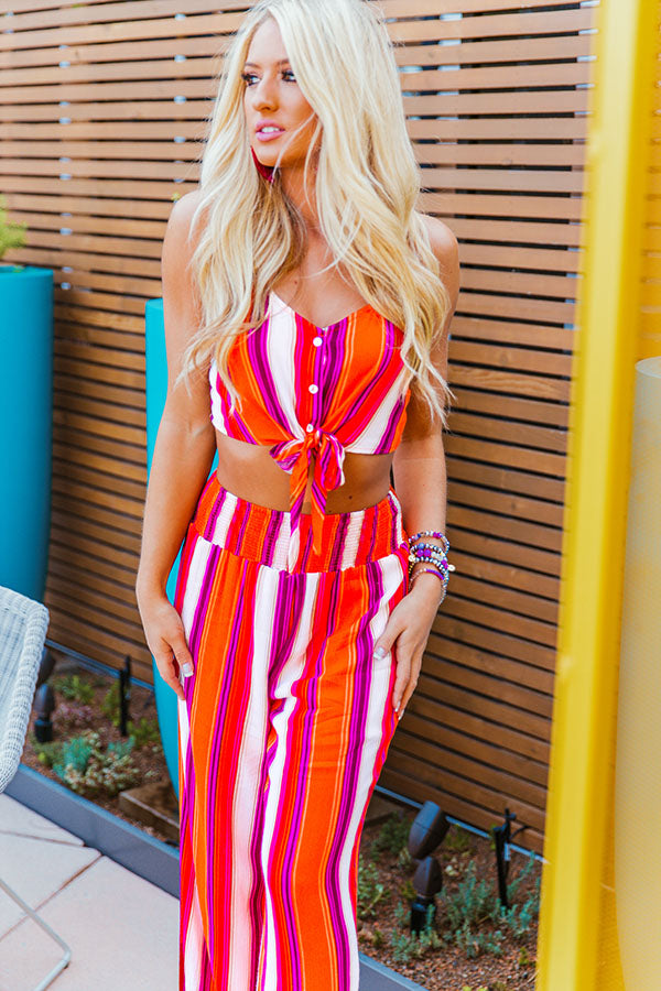 Sunset Cruise Front Tie Top