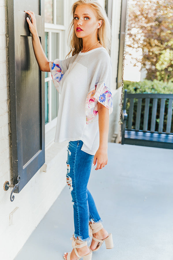 Butterfly Kisses Shift Top in Ivory