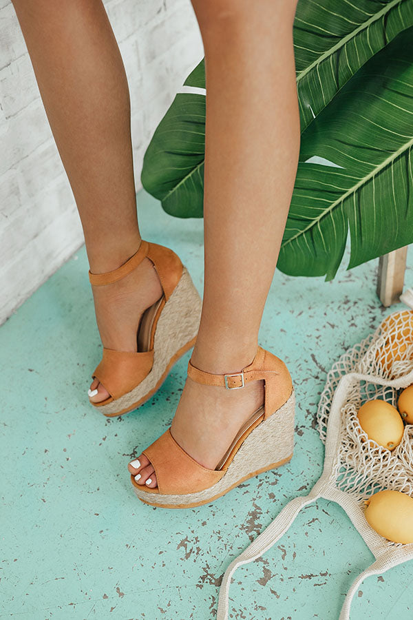 Miami Beach Wedge in Camel