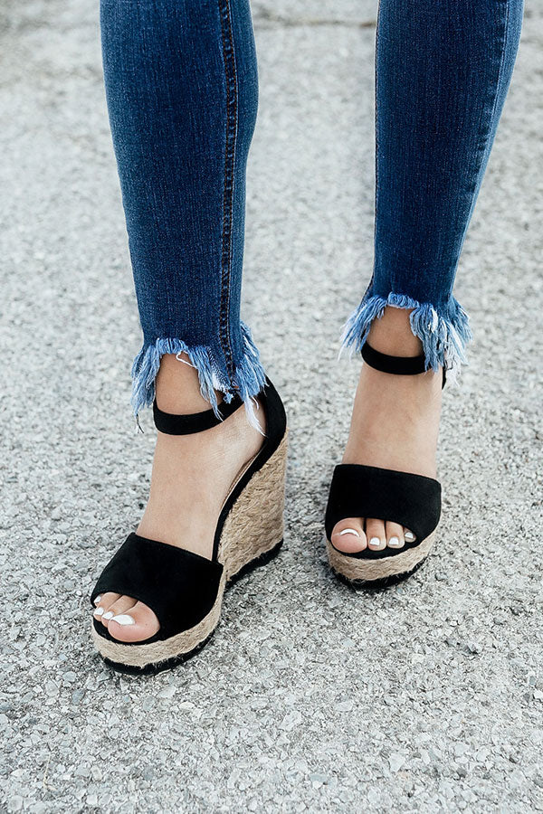 Miami Beach Wedge in Black
