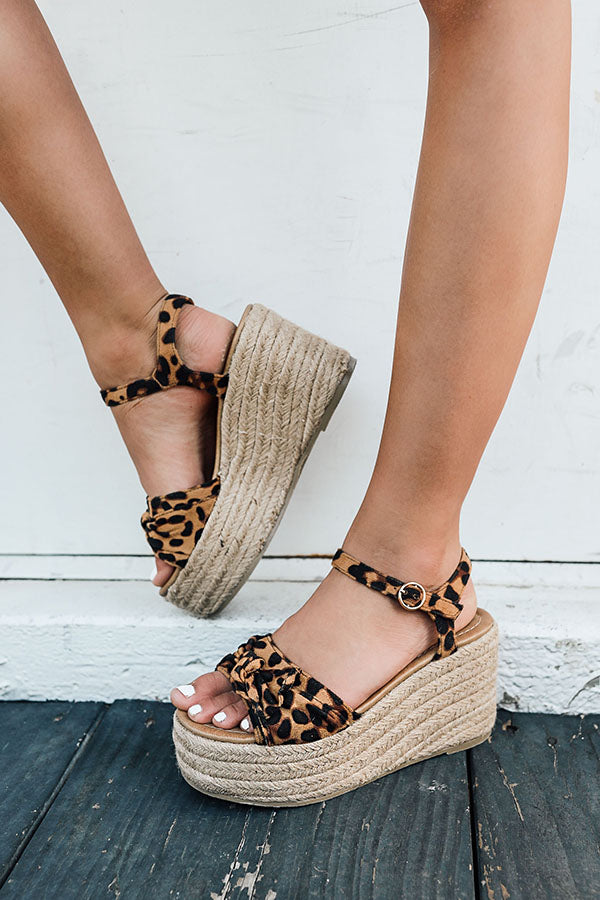 The Giselle Bow Wedge in Leopard