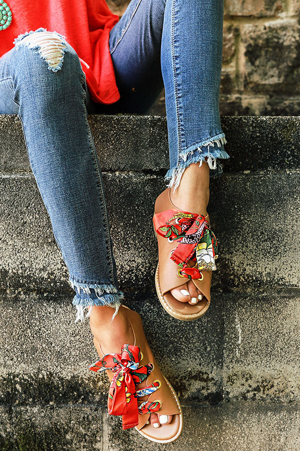 All Day Chic Lace Up Sandal