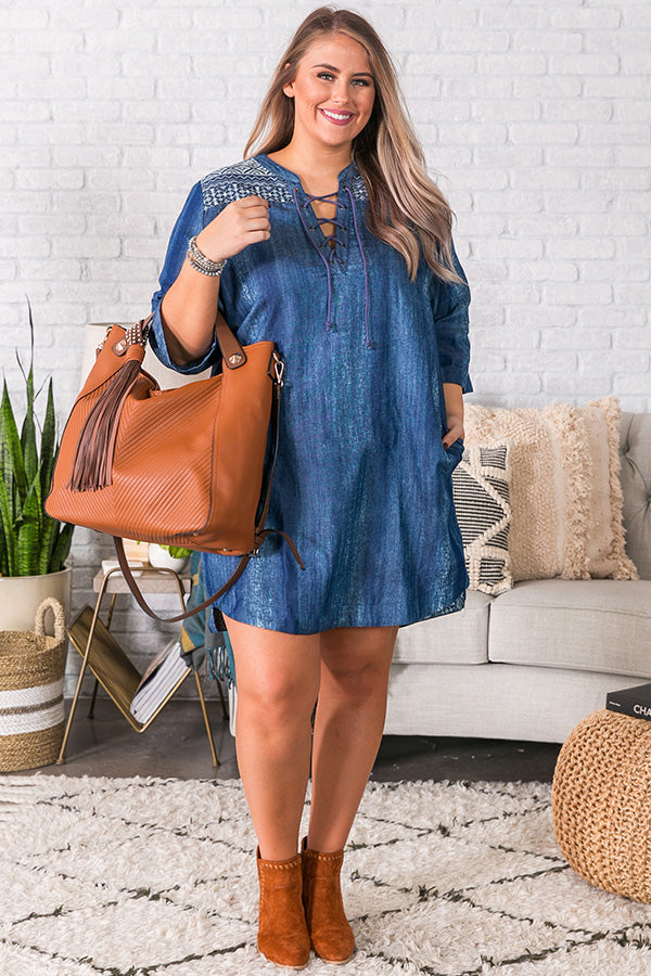 Sedona Chambray Shift Dress