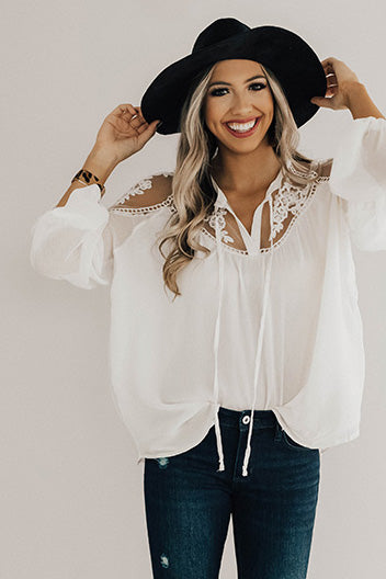 All Day Chic Lace Top in Cream