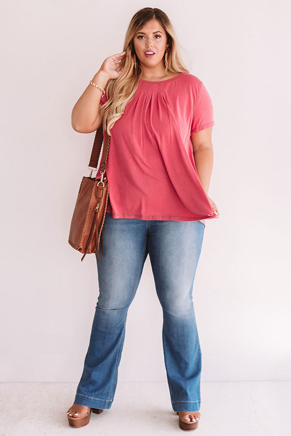 Call Me Comfy Shift Tee in Rose