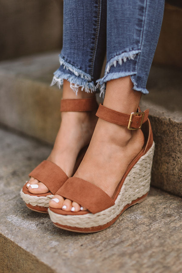 The Lana Wedge in Cinnamon