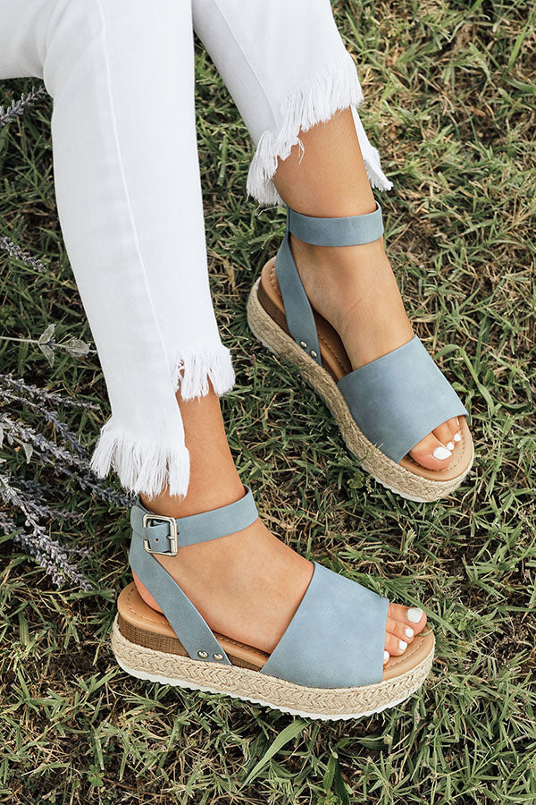 The Brighton Espadrille in Airy Blue