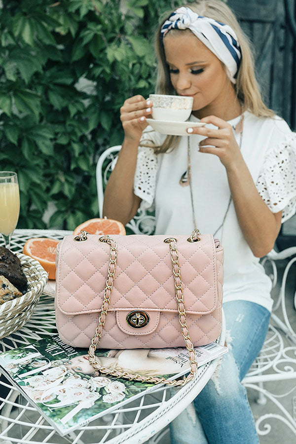 Pretty Chic Quilted Purse in Blush