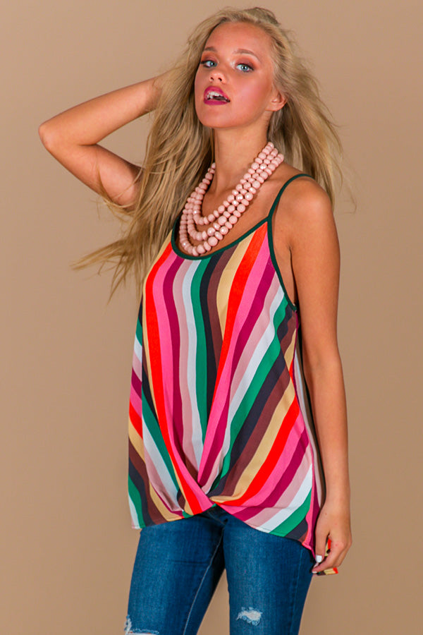 Maui Stripe Shift Tank