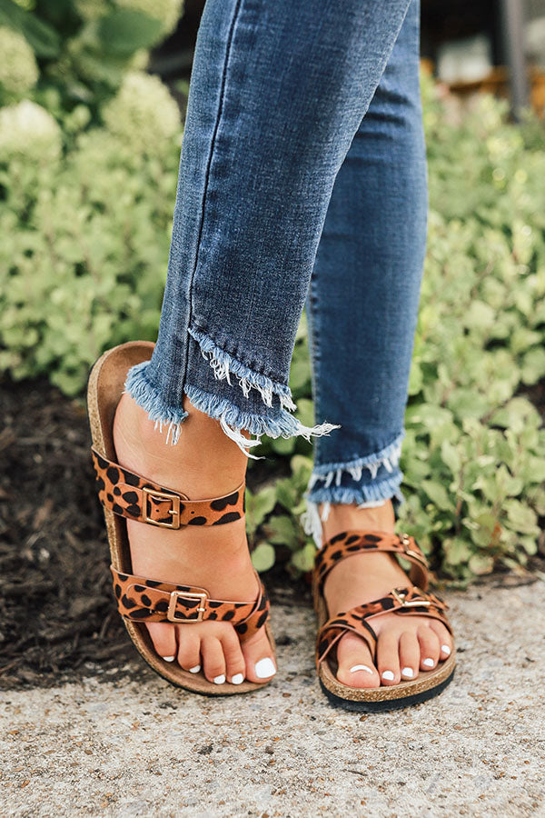 The Lori Leopard Sandal