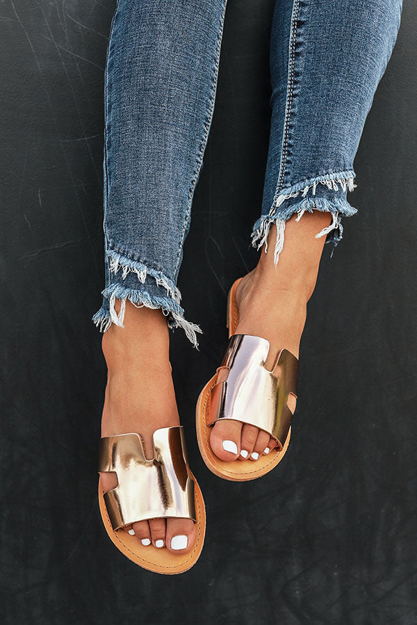 The Ella Sandal in Rose Gold