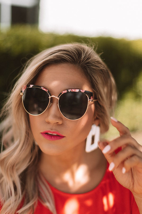Park Ave Sunnies In Pink Marble