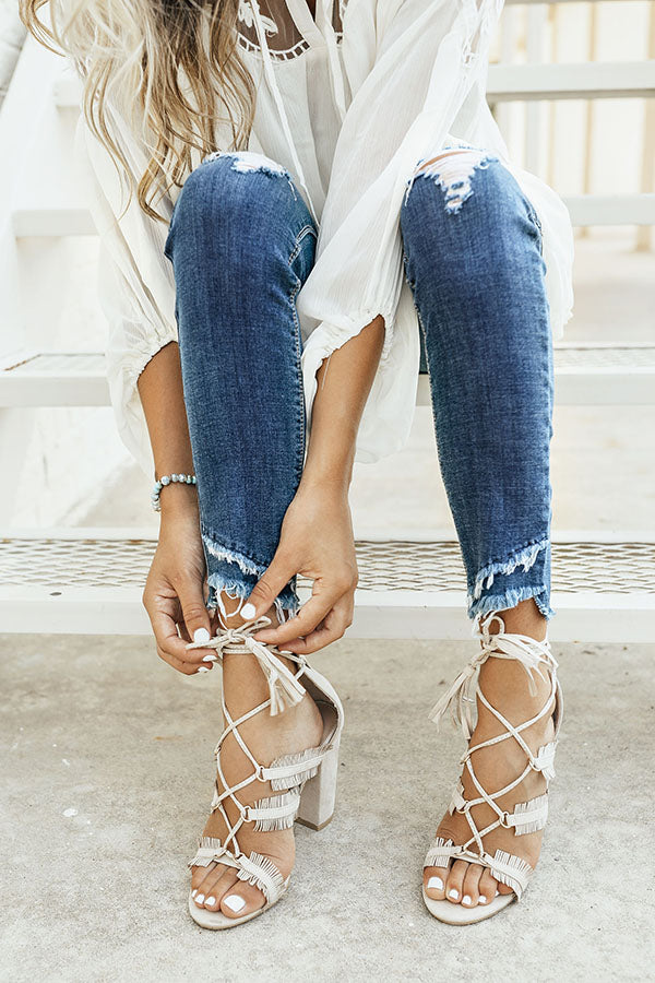 The Brianna Heel in Stone