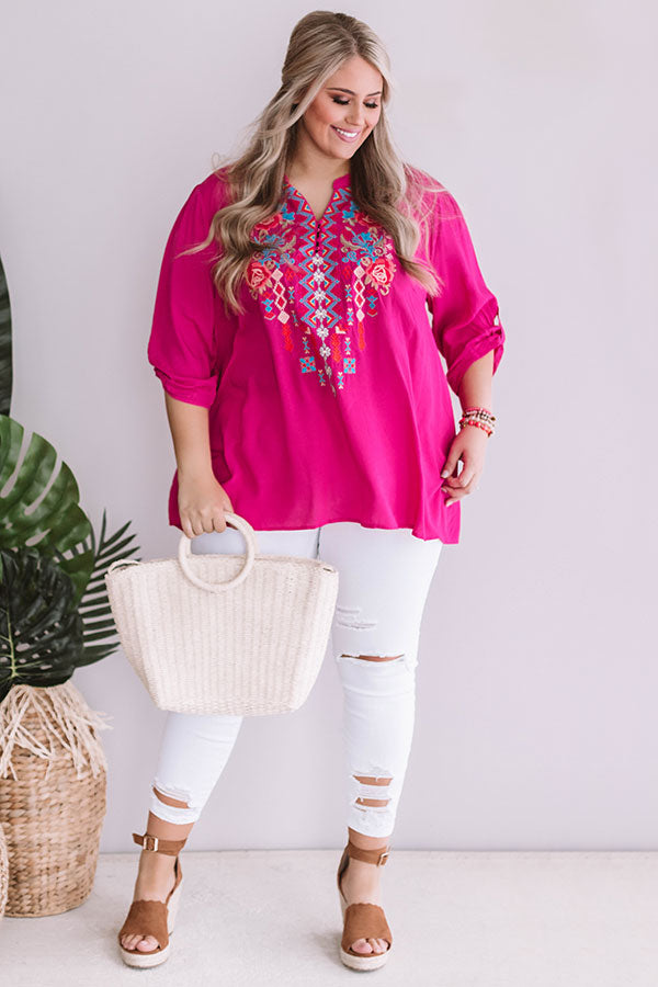 Cabana Cutie Embroidered Shift Tunic
