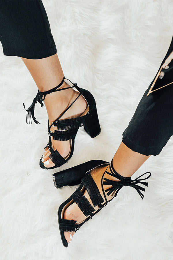 The Brianna Heel in Black