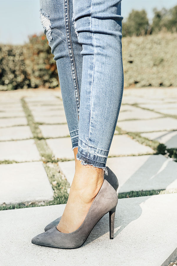 The Genevieve Heel in Grey