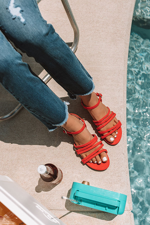 The Mae Sandal in Raspberry