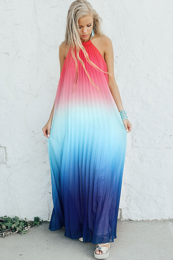 Sunset Magic Pleated Maxi