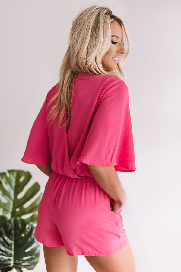 Take Me To Tribeca Romper in Pink
