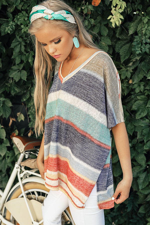 Cocoa Beach Cabana Shift Top in Navy
