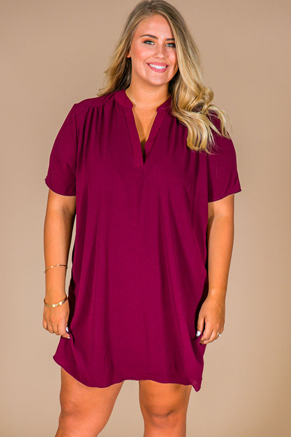 29ac37610c6f Simply Chic Shift Dress In Maroon • Impressions Online Boutique